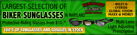 Largest Selection of Biker Sunglasses